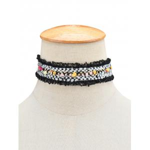 Fuzzy Woven Choker Necklace
