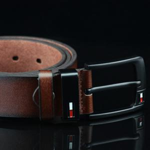 Faux Leather Wide Waist Belt with Pin Buckle -