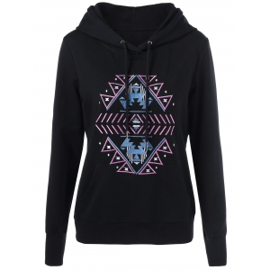 Embroidered Drawstring Hoodie
