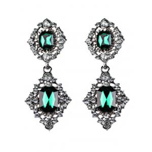 Faux Gems Embellished Drop Earrings