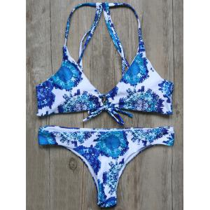 Cami String Strappy Printed Bikini Set