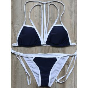 Cami Color Block Strappy String Bikini Set