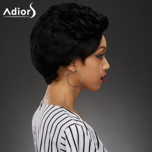 Shaggy Straight Capless Fashion Ultrashort Black Synthetic Wig For Women -