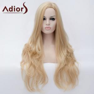 Adiors Long Side Parting Fluffy Slightly Curled Party Synthetic Wig