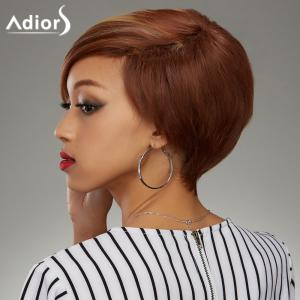 Fashion Short Haircut Soft Straight Blonde Highlight Synthetic Wig For Women -
