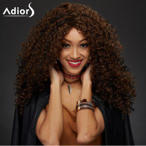 Latest Adiors Shaggy Curly Colormix Synthetic Vogue Long Wig