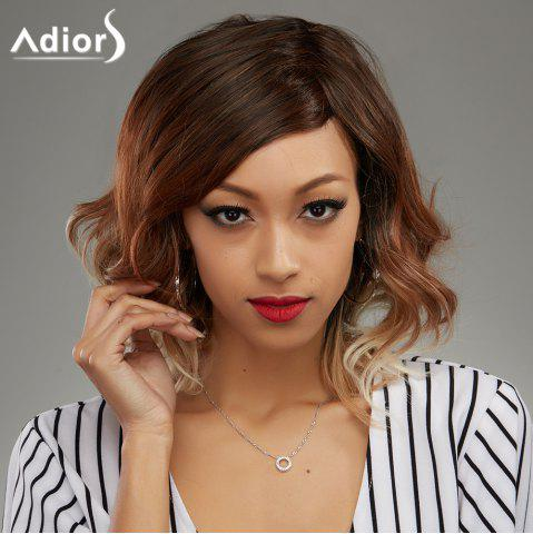 Fashion Medium Mixed Color Wavy Side Parting Women's Synthetic Hair Wig - COLORMIX