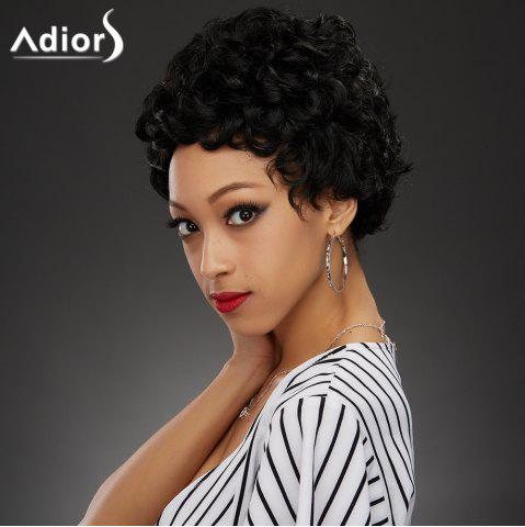 Store Fashion Short Black Fluffy Curly Synthetic Wig BLACK