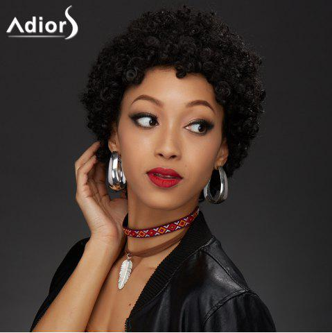 Store Adiors Hair Ultrashort Synthetic Curly Wig BLACK