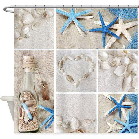 Store Starfish Shell Mouldproof Waterproof Bath Curtain - COLORMIX  Mobile