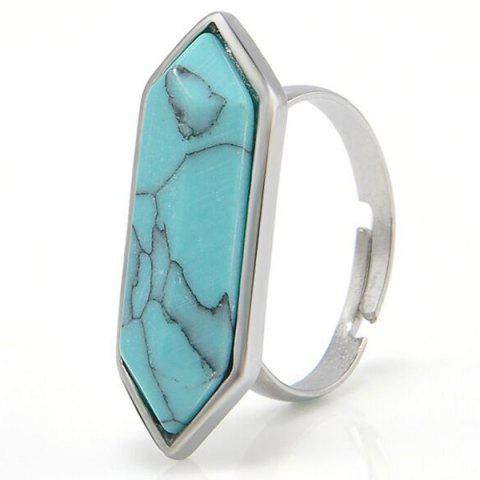 Store Geometry Faux Gemstone Ring TURQUOISE BLUE
