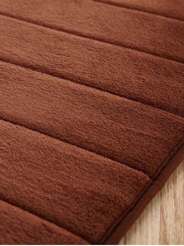 Fashion Fleece Fabric Antislip Water Absorbent Floor Carpet - 50CM*80CM COFFEE Mobile