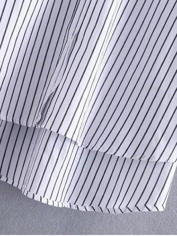 Online High Low Pocket Striped Shirt - M STRIPE Mobile