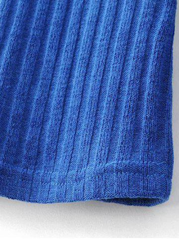 Outfits Mock Neck Ribbed Knitwear - S BLUE Mobile