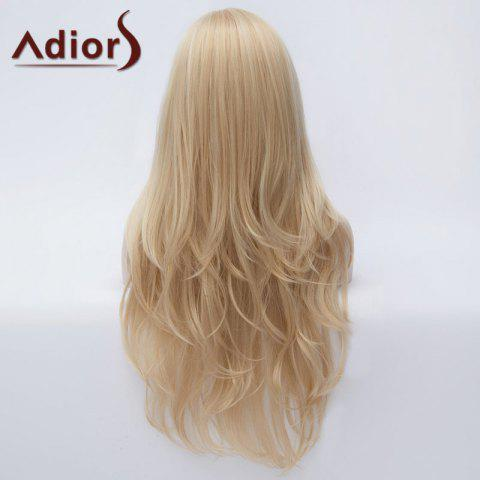 Shop Adiors Long Side Parting Fluffy Slightly Curled Party Synthetic Wig - LIGHT GOLD  Mobile