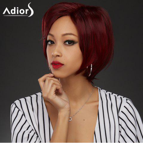 Outfits Wine Red Mixed Stunning Short Straight Side Parting Synthetic Wig COLORMIX