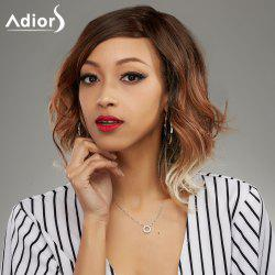 Adiors Short Side Parting Multi Color Curly Synthetic Wig