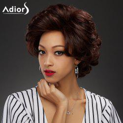 Adiors Short Oblique Bang Curly Pixie Synthetic Wig