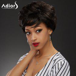 Adiors Inclined Bang Shaggy Short Straight Synthetic Wig