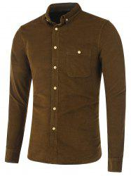 Pocket Corduroy Button Down Shirt