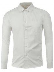 Button Front Pocket Plain Shirt