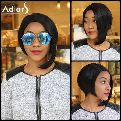 Adiors Asymmetry Side Parting Silky Straight Bob Short Synthetic Wig