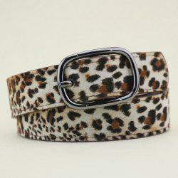 Wide Pigskin Cheetah Print Belt