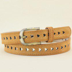 Hollow Out Heart Pigskin Waist Belt
