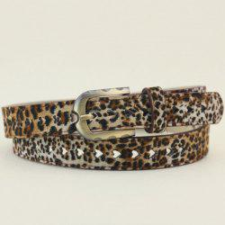 Hollow Out Heart Cheetah Print Waist Belt
