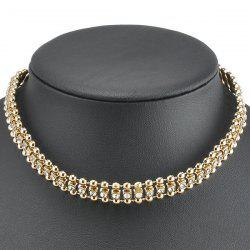 Hollow Out Rhinestone Choker Necklace