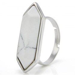 Geometry Faux Gemstone Ring