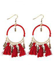 Bohemian Tassel Circle Drop Earrings