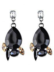 Faux Gems Embellished Water Drop Dangle Earrings