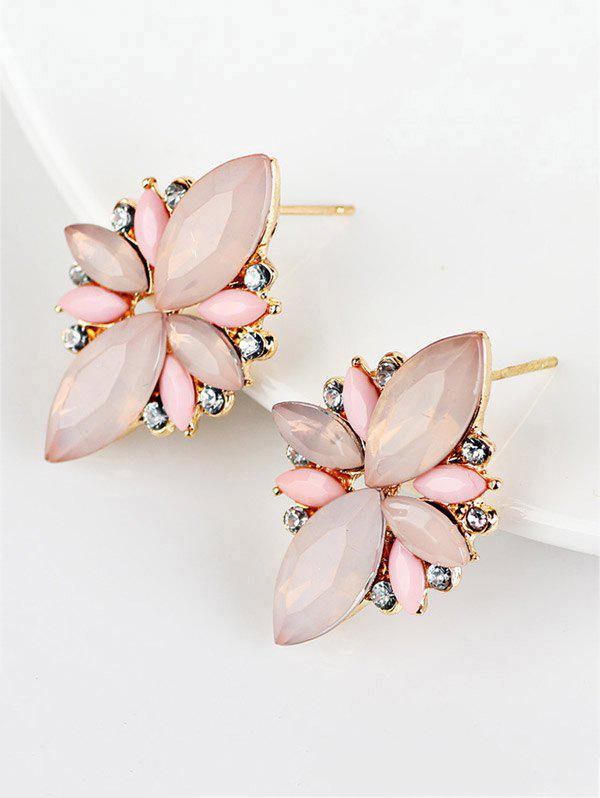 Hot Candy Color Faux Gems Embellished Earrings