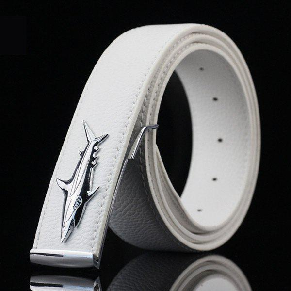 Shop Alloy Shark Covered Pin Buckle Faux Leather Belt