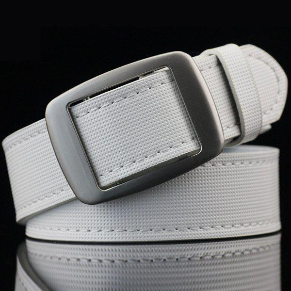 Best Gingham Embossed Faux Leather Square Buckle Belt