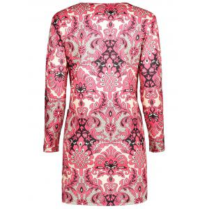 Plus Size  Paisley Printed Sheath Dress -