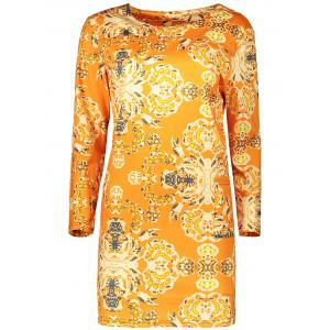 Plus Size Long Sleeve Fitted Dress