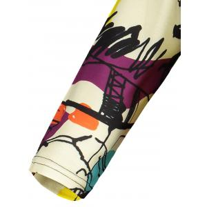 Plus Size Abstract Graffiti Mini Dress -
