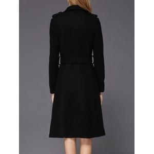 Wool A Line Long Peacoat -