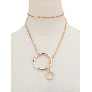 Vintage Circle Chain Necklace