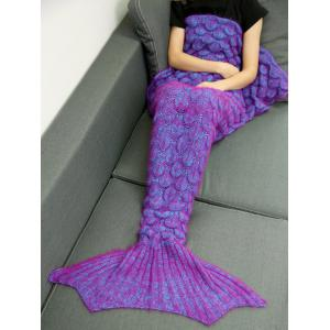 Soft Knitted Throw Bed Wrap Mermaid Blanket