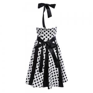 Retro Polka Dot Party Halter Swing A Line Dress -