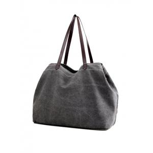 Casual Canvas Stitching Shoulder Bag -