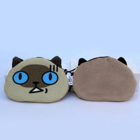 Online Creative Animal Face Character Coin Purse - YELLOW  Mobile