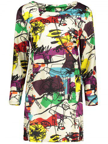 Shop Plus Size Abstract Graffiti Mini Dress