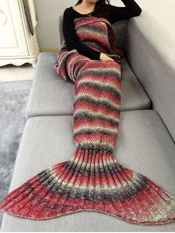 Shops Ombre Striped Chunky Crochet Knit Mermaid Blanket Throw