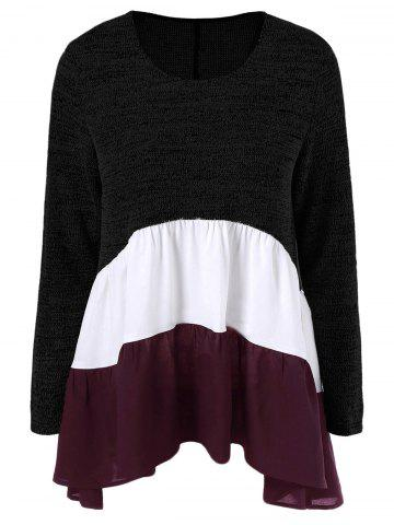 Hot Color Block Tiered T-Shirt
