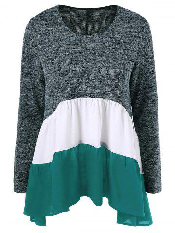 New Color Block Tiered T-Shirt