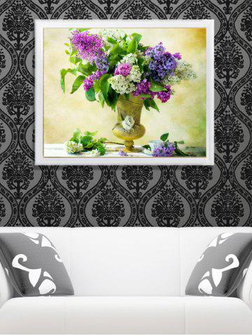 Home Decor DIY Handmade Beads Painting Flower Cross Stitch - Colormix